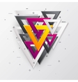 Abstract background with multicolor 3d triangles vector image
