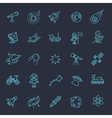 Astronomy Astrology and Space icons vector image