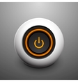 sphere power button vector image vector image