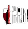 Bottles silhouette menu card vector image
