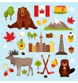 Canada decorative set vector image