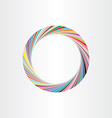 colorful circle frame abstract background vector image