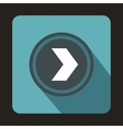 Gray button with whire arrow icon flat style vector image