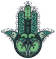 Indian hand drawn hamsa vector image