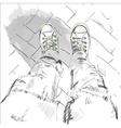 Legs in gumshoes vector image