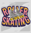 roller skating design with a classic model roller vector image
