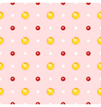 Seamless pattern with round gemstones vector image