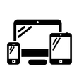 Phone computer and tablet vector image vector image