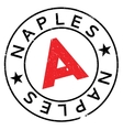 Naples stamp rubber grunge vector image