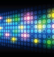 glowing button on screen vector image vector image