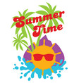colored with sun sunglasses vector image