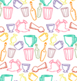 Dishes color pattern vector image