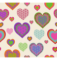 seamless heart pattern vector image vector image