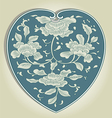 asian heart ornament vector image vector image