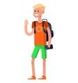 detailed character flat design children vector image