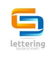 alphabet abstract letter combination shape vector image
