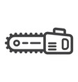 chainsaw line icon build and repair electric saw vector image