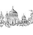 Church and trees vector image