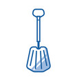 emergency snow shovel icon vector image