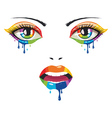 Face of Paint vector image