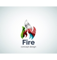Fire logo template vector image