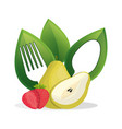 fruit vegan food fresh vector image