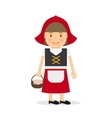 Little red riding hood vector image