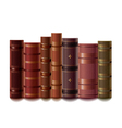 old books isolated vector image