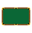 pixel art empty green billiard table on a white vector image