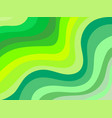 wavy background shades of green vector image