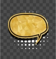 Oval gold sparkle comic text bubble vector image