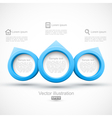 Blue circle banners 3D vector image