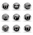 Glossy icon set 33 vector image vector image