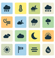 weather icons set collection of moisture sun vector image