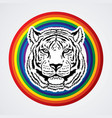 tiger head front view face vector image