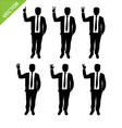 Business man silhouettes counting numbers vector image vector image