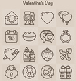Outline Icons Set Valentines Day vector image