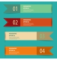 Vintage retro infographics options banner set vector image