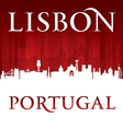 Lisbon Portugal city skyline silhouette vector image