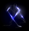 a hockey player vector image