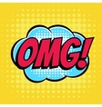 Omg comic book bubble text retro style vector image