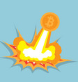 bitcoin flying cryptocurrency concept vector image