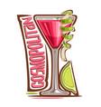cocktail cosmopolitan vector image