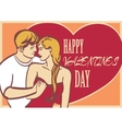 Cool art couple in love and heart with vector image