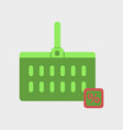 flat icon of supermarket basket vector image