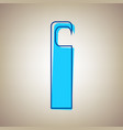 hotel door hanger tag sign sky blue icon vector image