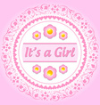 Its a girl ornament vector image
