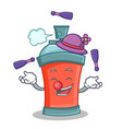 juggling aerosol spray can character cartoon vector image