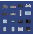 pixel art game design icon set - console gamepad vector image