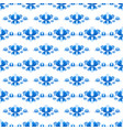 seamless pattern with flowers russian gzhel style vector image